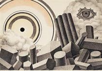 Apocalyptic Landscape - Otto Gustav Carlsund