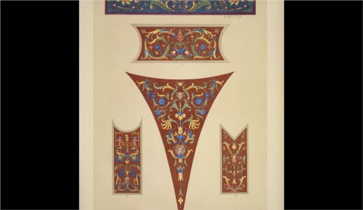 Italian Ornament no. 4. Ornaments from the Palazzo del Te, Mantua - Owen Jones
