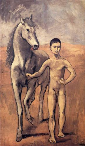 Boy leading a horse - Pablo Picasso