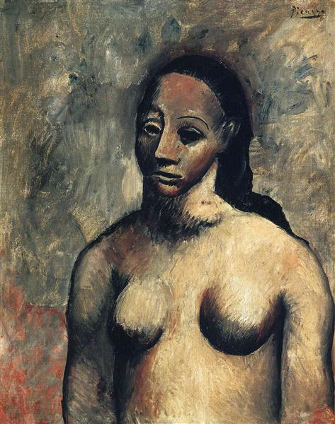 Bust of nude woman, 1906 - Pablo Picasso