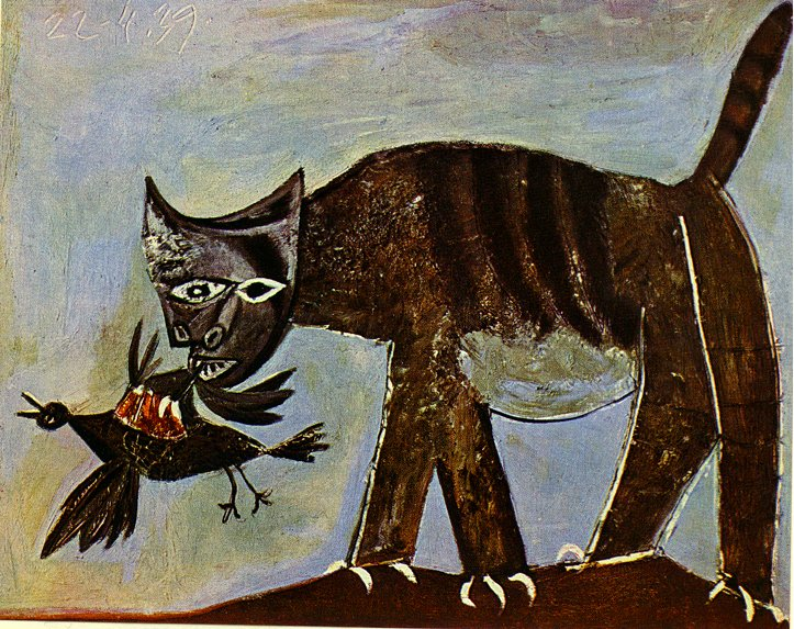 Cat catching a bird, 1939 - Pablo Picasso