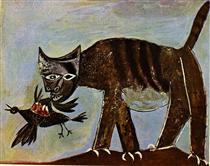 Gatto che cattura un uccello - Pablo Picasso