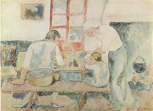 Dinner time (Evocation of Horta d'Ebre) - Pablo Picasso