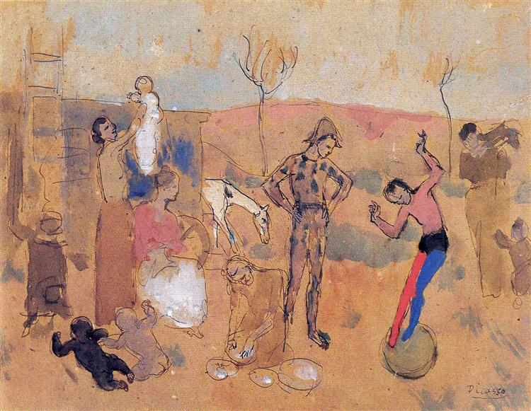 Family of jugglers, 1905 - Pablo Picasso