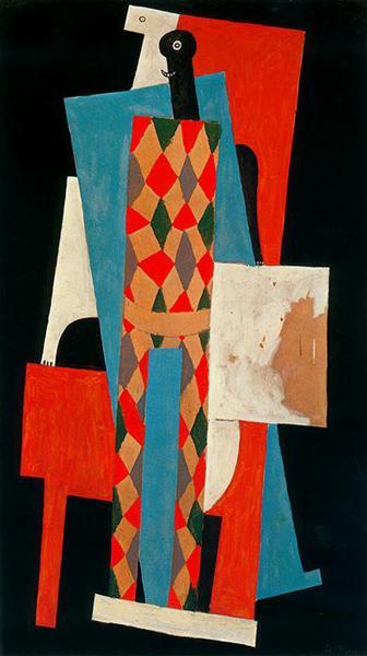 Harlequin, 1915 - Pablo Picasso
