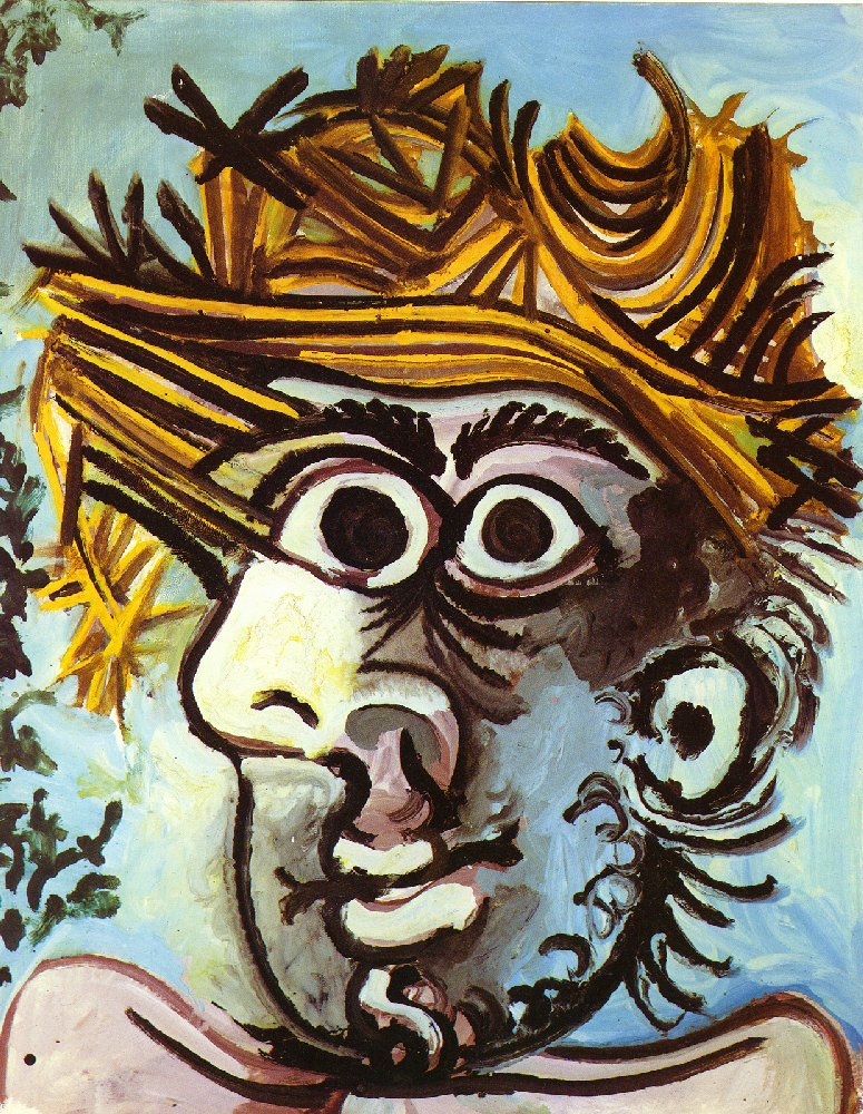 head of a man with straw hat pablo picasso encyclopedia of visual arts. Black Bedroom Furniture Sets. Home Design Ideas
