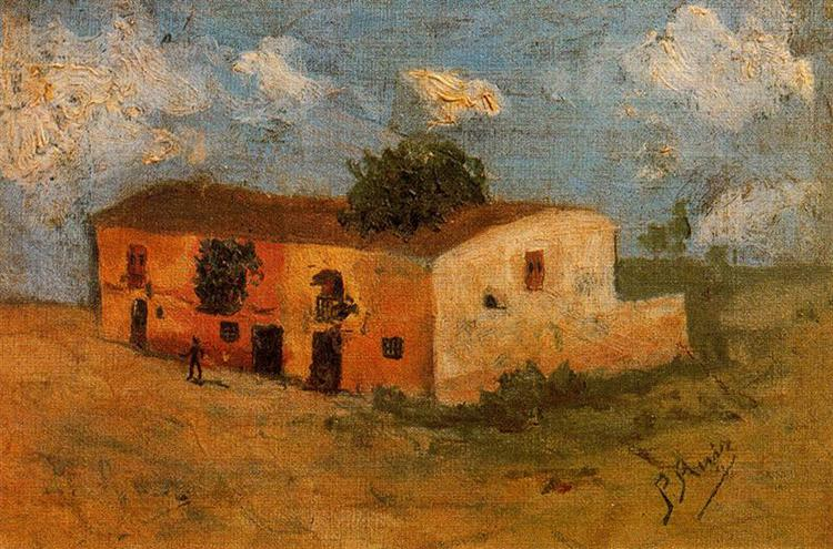 House in the field, 1893 - Pablo Picasso