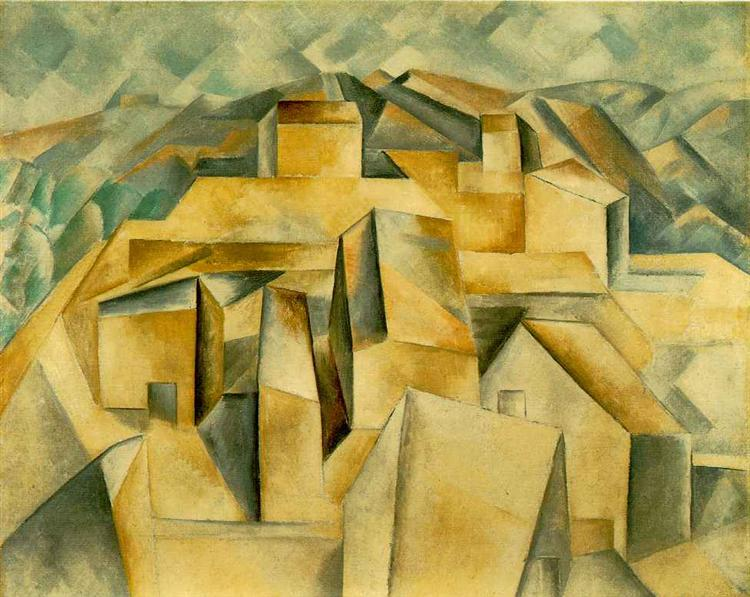 Houses on the hill, 1909 - Pablo Picasso