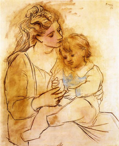 Mother and child - Picasso Pablo