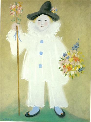 Portrait of Paulo as Pierrot - Pablo Picasso