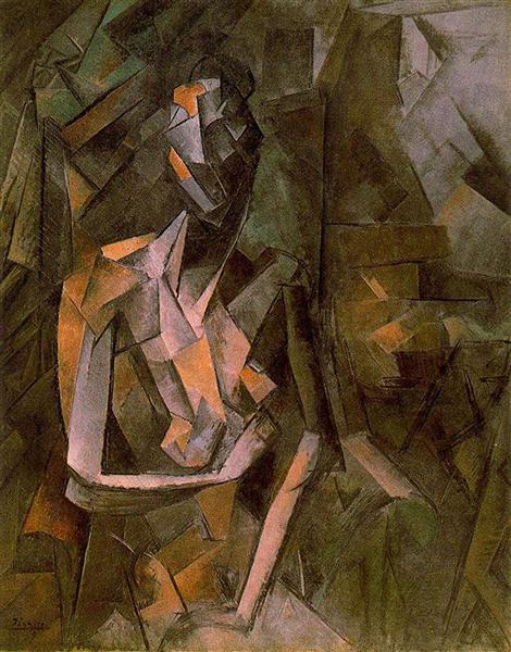Seated female nude, 1910 - Pablo Picasso