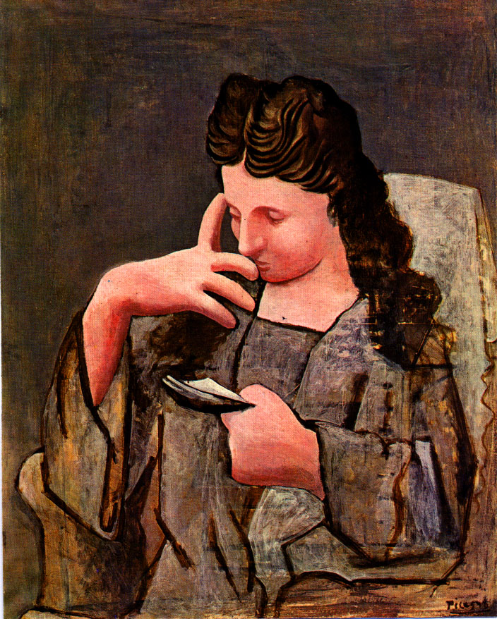 Seated woman (Olga), 1920