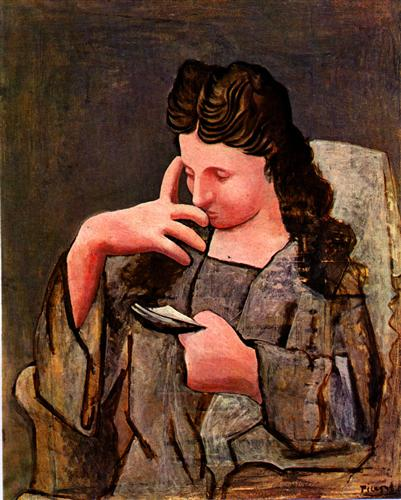 Seated woman (Olga) - Pablo Picasso
