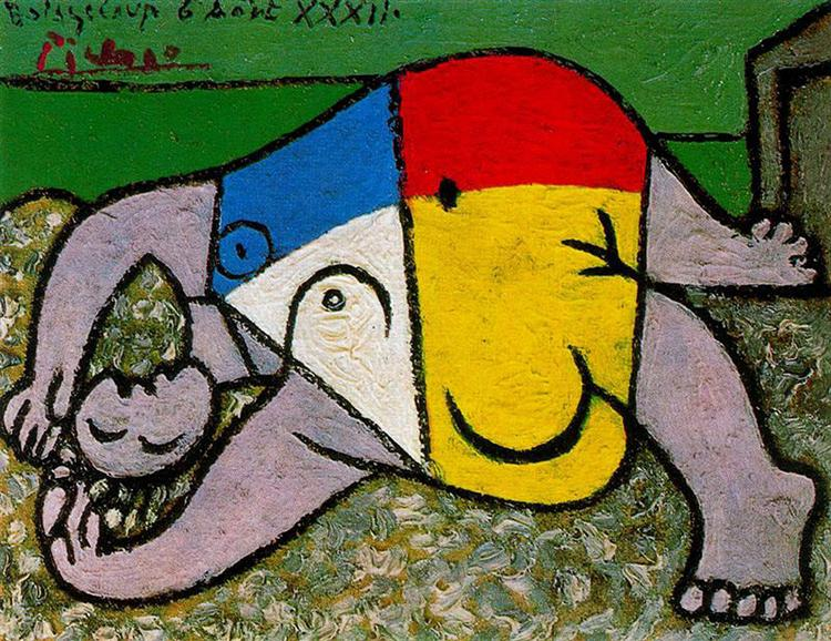 Woman on the beach - Picasso Pablo