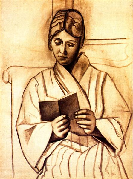 Woman reading (Olga), 1920 - Pablo Picasso