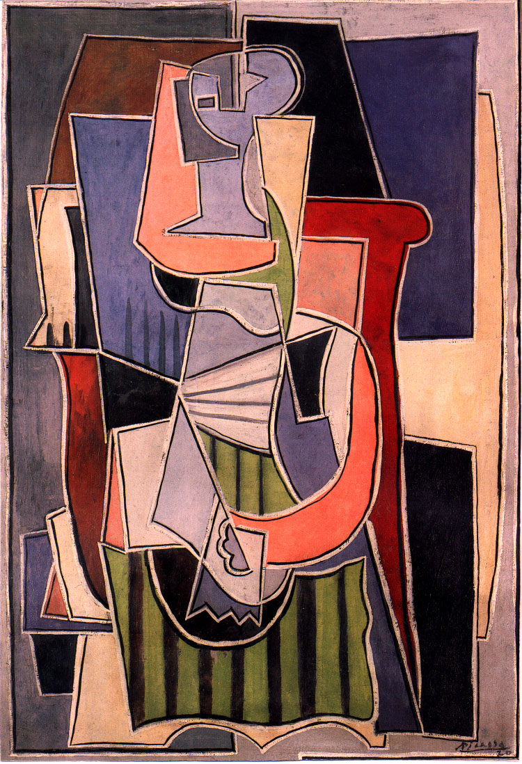 woman sitting in an armchair, 1920 - pablo picasso - wikiart