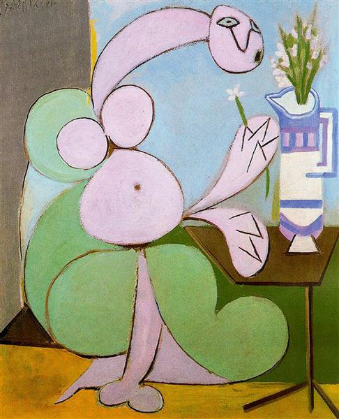 Woman with bouquet, 1936 - Pablo Picasso