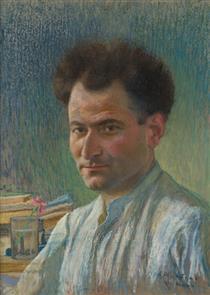Gurgen Mahari's portrait - Panos Terlemezian