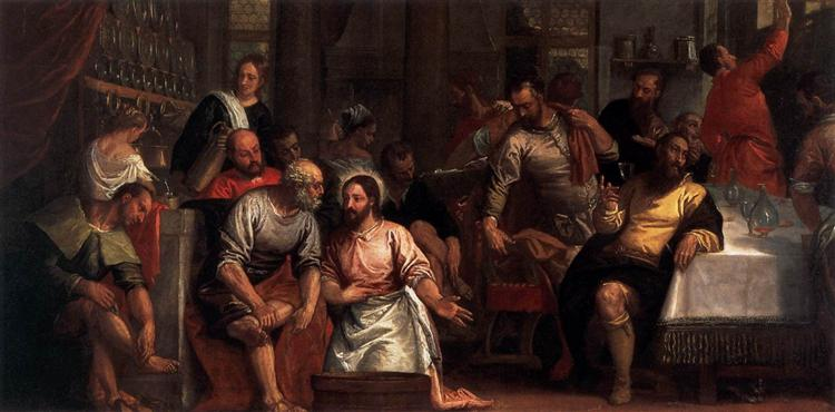 Christ Washing the Feet of the Disciples, c.1580 - Paolo Veronese