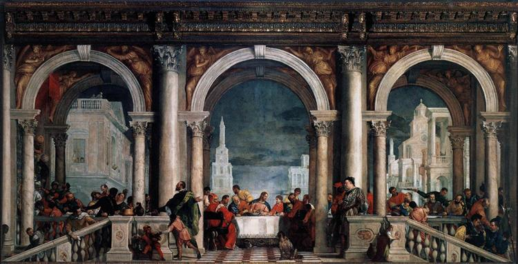 Feast in the House of Levi, 1573 - Paolo Veronese