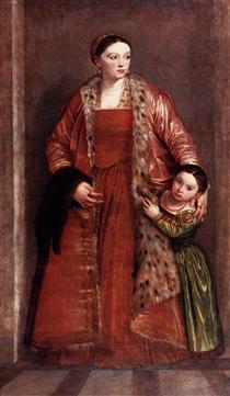 Paolo Veronese, (1528-1588) Livia-da-porto-thiene-and-her-daughter-porzia-1552.jpg!PinterestSmall