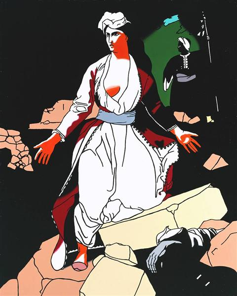 Greece Expiring on the Ruins of Missolonghi (after Delacroix) - Patrick Caulfield
