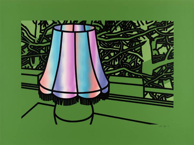 Lamp and Pines, 1975 - Patrick Caulfield