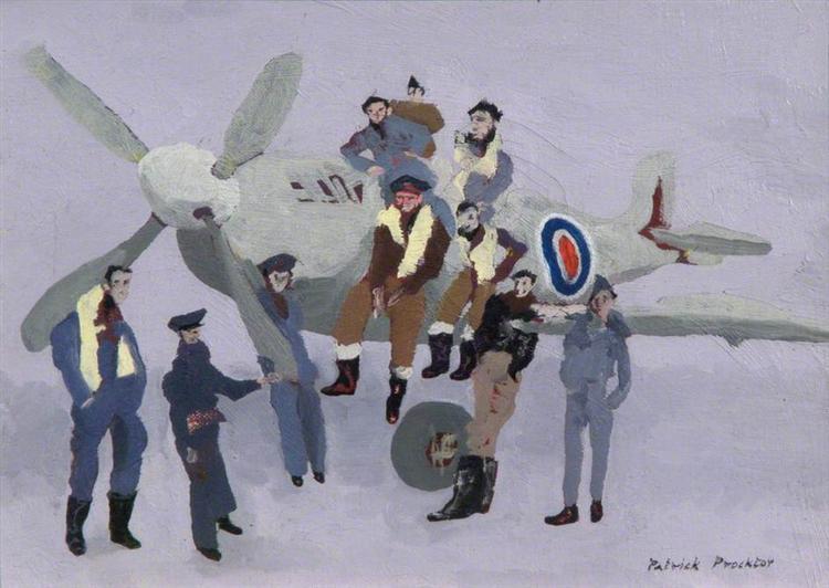 A Group of Polish Pilots, 1960 - Patrick Procktor