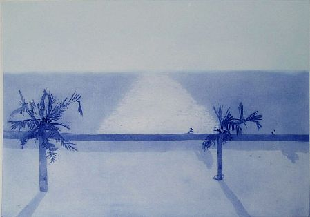 Back Bay in Bombay from the 'India, Mother' suite of 7 aquatints, 1970 - Patrick Procktor