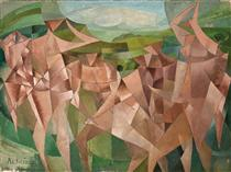 Seven Figures in a Landscape - Paul Ackerman