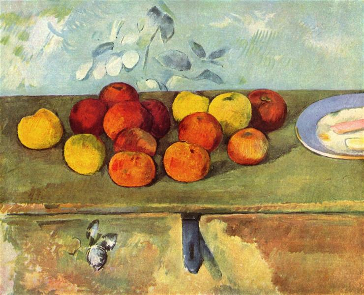 Apples and Biscuits, 1895 - Paul Cezanne