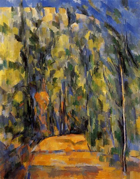 Bend in Forest Road, 1906 - Paul Cezanne