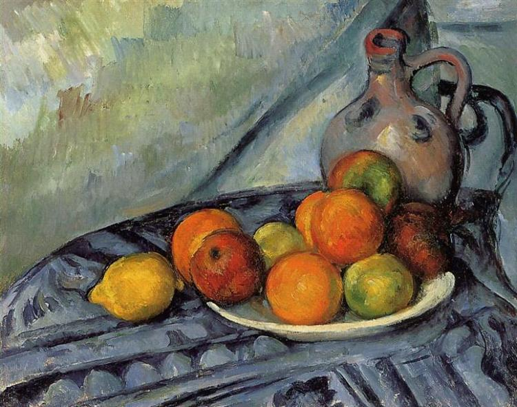 Fruit and Jug on a Table, c.1894 - Paul Cezanne