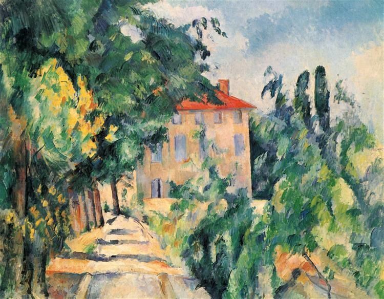 House with Red Roof, 1890 - Paul Cezanne
