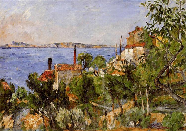 Landscape. Study after Nature - Cezanne Paul