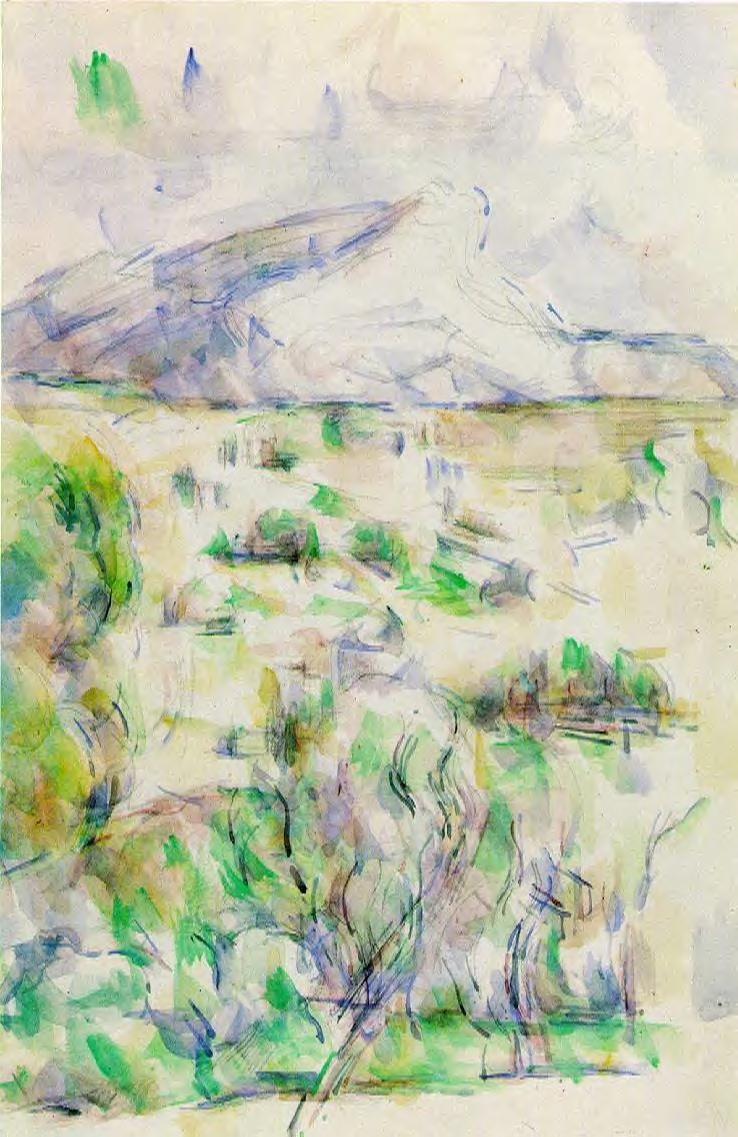 Cezanne Mont Sainte Victoire Seen From Lauves Mont Sainte-victoire Seen From