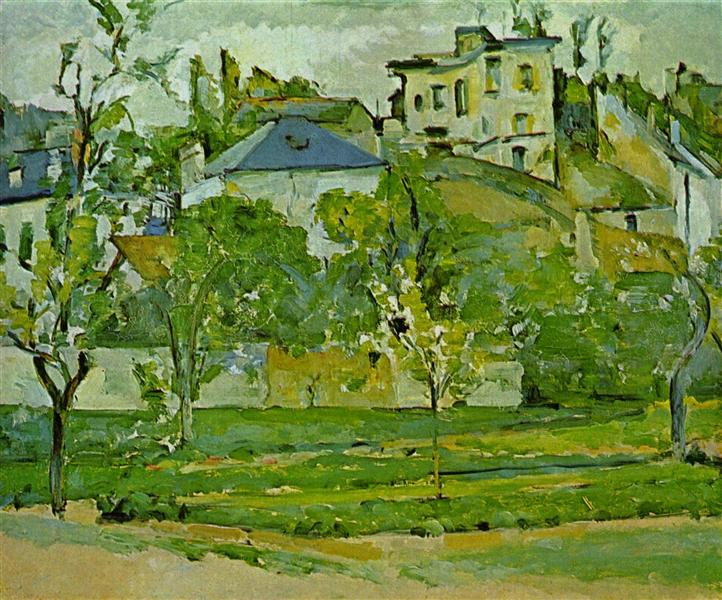Orchard in Pontoise, 1877 - Paul Cezanne