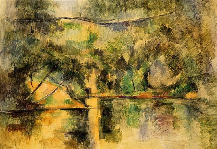 Reflections in the Water, c.1890 - Paul Cezanne