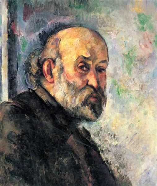 Self-Portrait, c.1895 - Поль Сезанн
