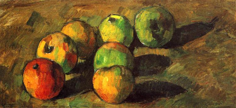 Still life with seven apples, 1878 - Paul Cézanne