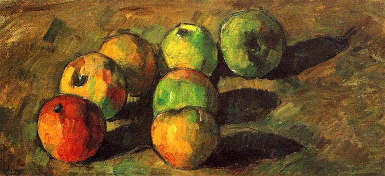 Still life with seven apples, 1878 - Поль Сезанн