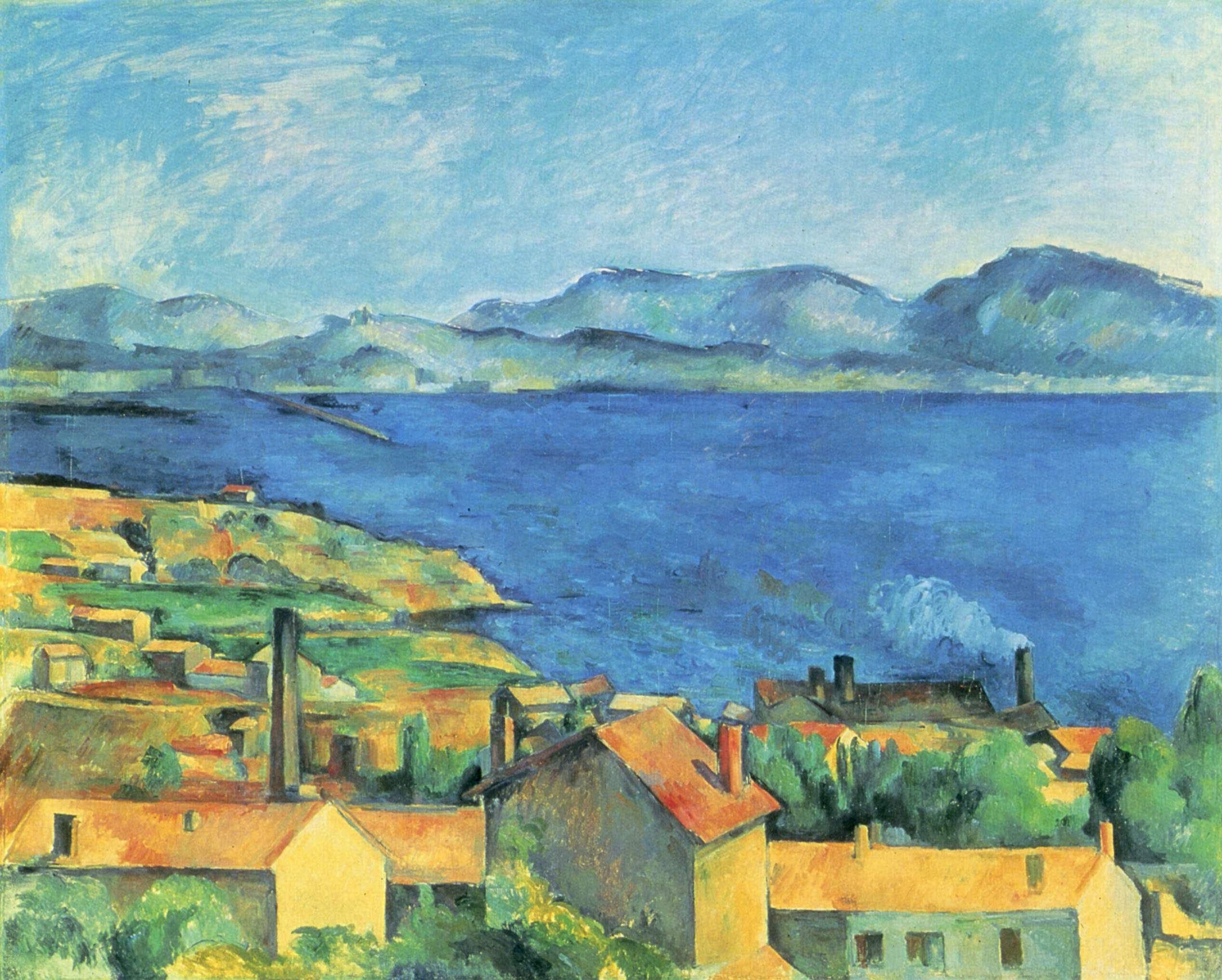 the gulf of marseille seen from l 39 estaque paul cezanne. Black Bedroom Furniture Sets. Home Design Ideas
