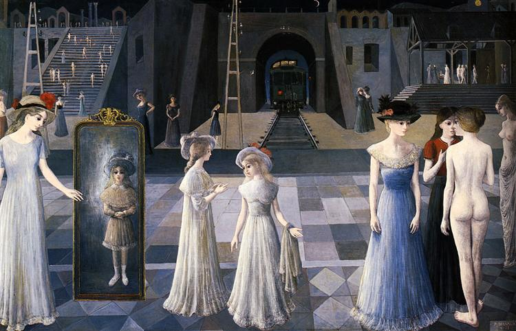 The Tunnel, 1978 - Paul Delvaux