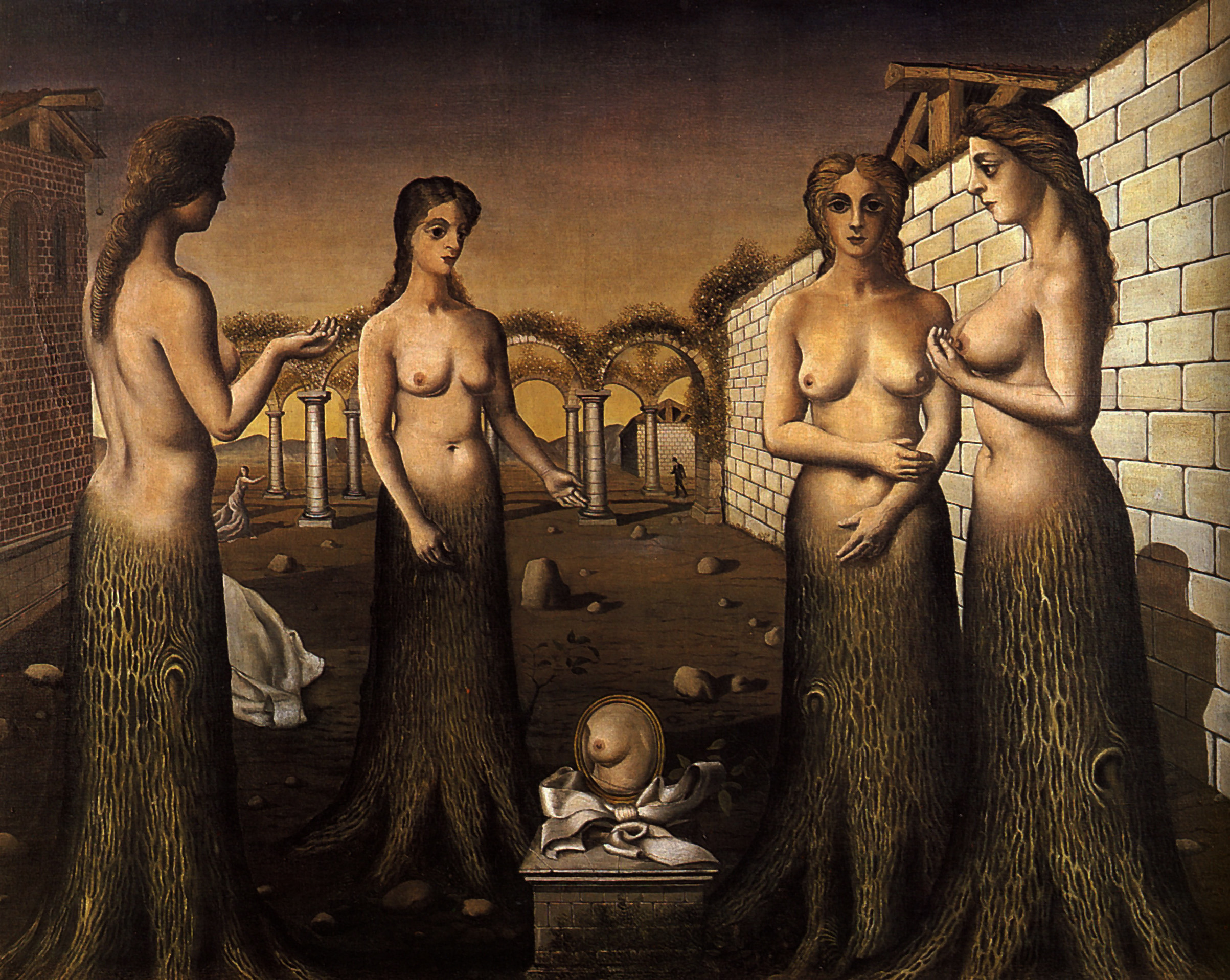 Paul Delvaux Gallery Women-trees Paul Delvaux