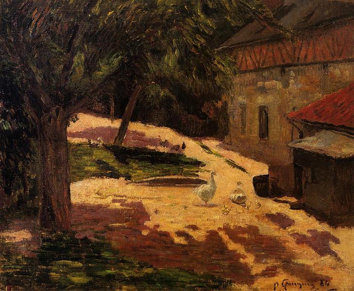 A Henhouse, 1884 - Paul Gauguin