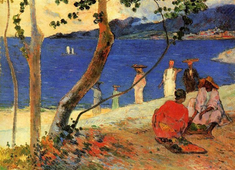 A seashore, 1887 - Paul Gauguin