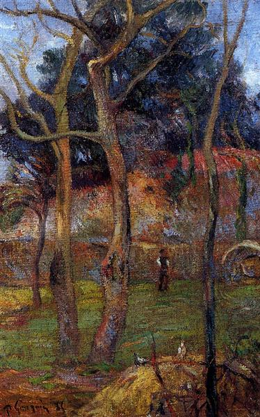 Bare Trees, 1885 - Paul Gauguin