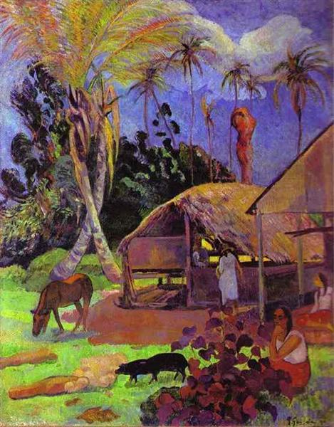 Black pigs, 1891 - Paul Gauguin