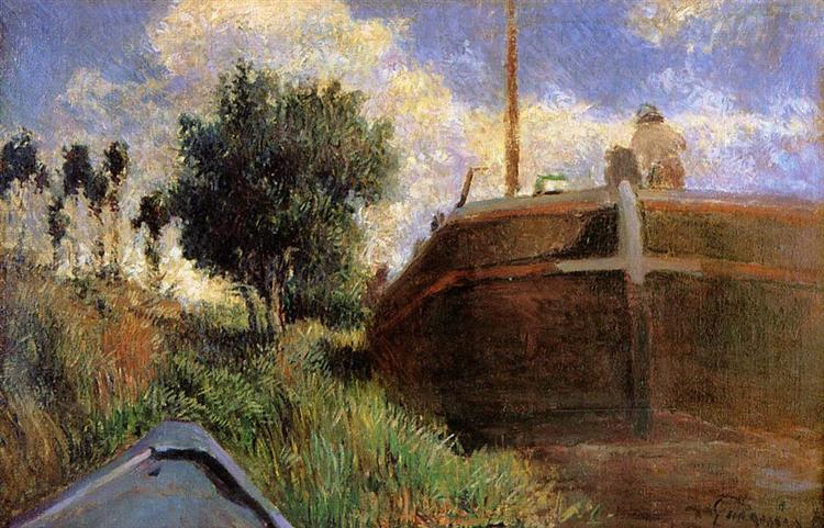 Blue Barge, 1882 - Paul Gauguin