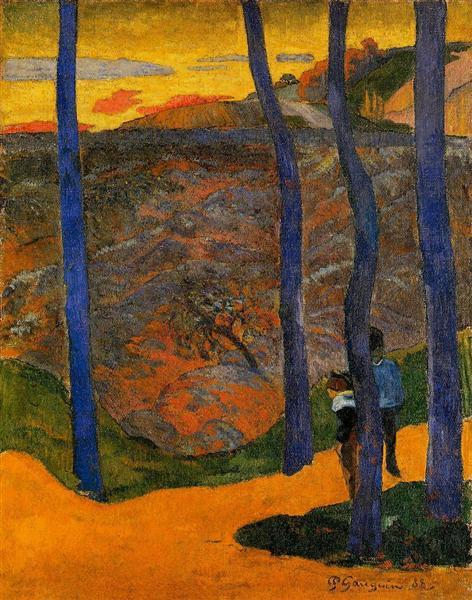 Blue trees, 1888 - Paul Gauguin